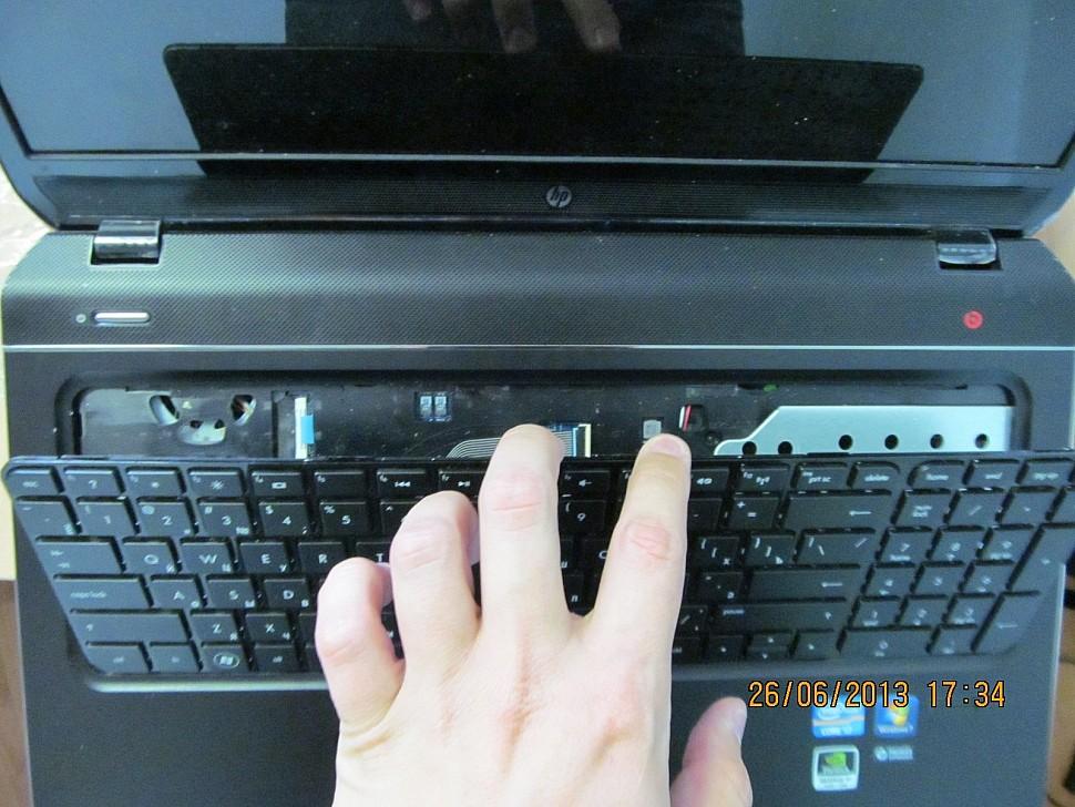 Как заменить клавиатуру на ноутбуке hp pavilion своими руками